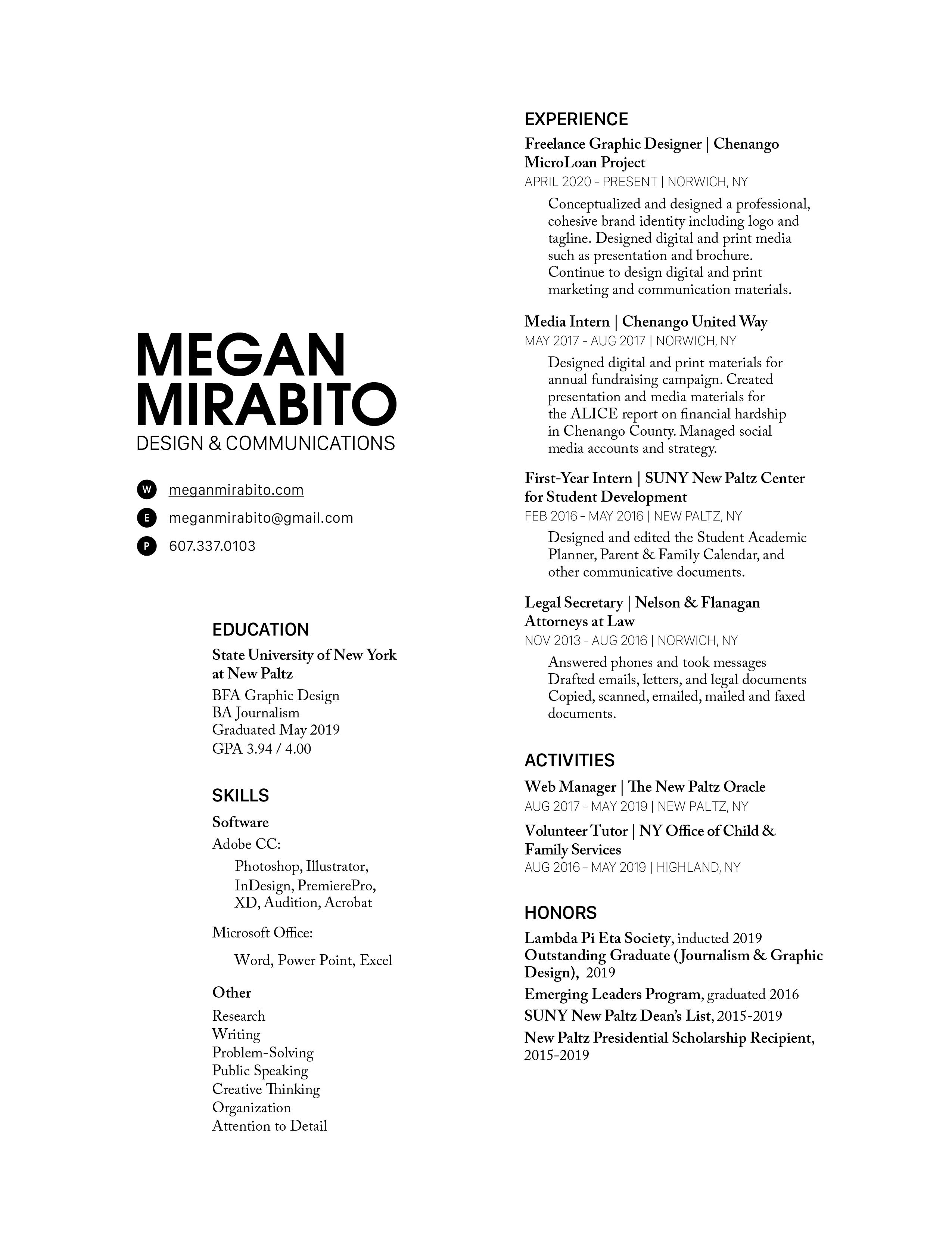 MeganMirabito.DesignResume-01